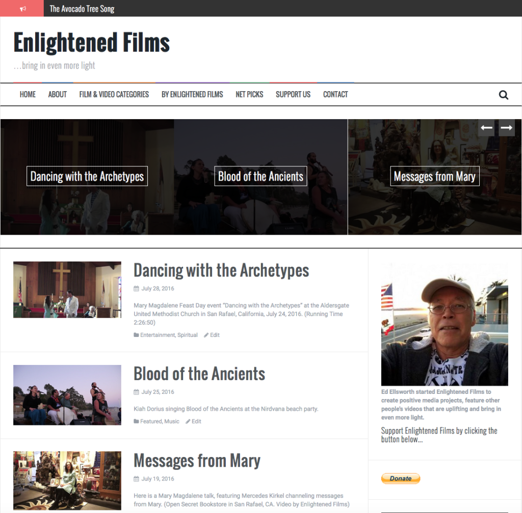 Enlightened Films website